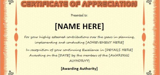 Certificate templates certificates of appreciation yadclub Images