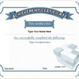 Business Certificate of Achievement