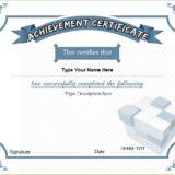 Business Certificate of Achievement
