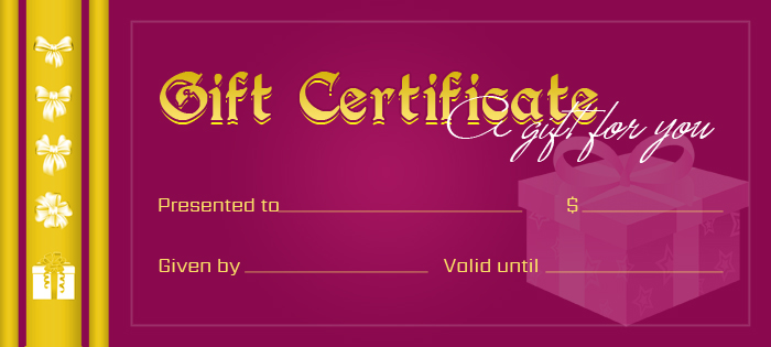 Gift Certificate Template for MS WORD