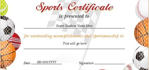 Sports Award Certificates – Sport Certificate Templates for Word