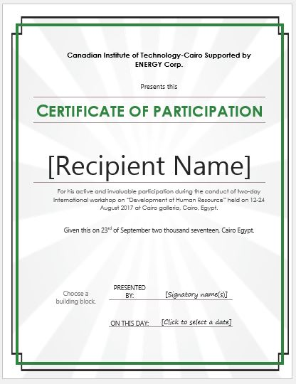 Certificate of participation templates for ms word professional certificate of participation templates for ms word professional certificate templates yelopaper