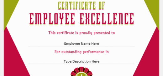 Certificates of Employee Excellence