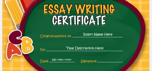 Best Essay Writing Certificate