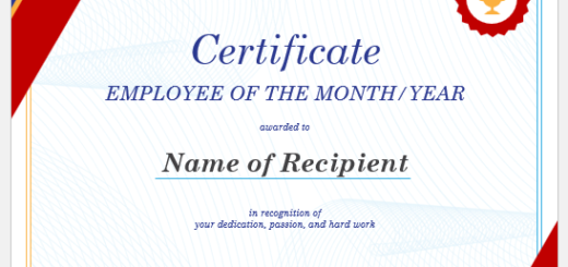 Employee of the Year Certificate Template