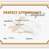 Excellent attendance certificate template