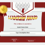 Leadership Award Certificate