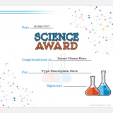 Science Award Certificate Template