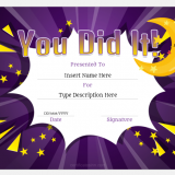 You-Did-It Certificate Template