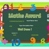 Math Award Certificate Template